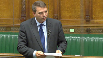 Gareth speaking in the House of Commons